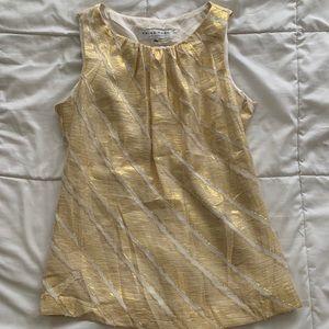 Trina Turk gold metallic top